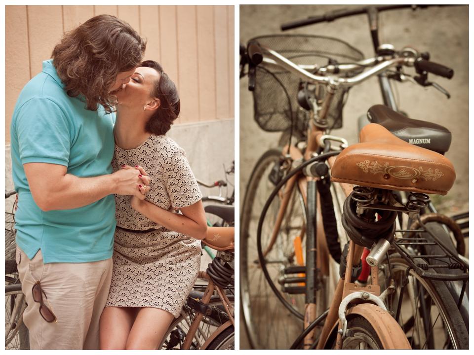 Beautiful vintage style engagement photowalk in Barcelona