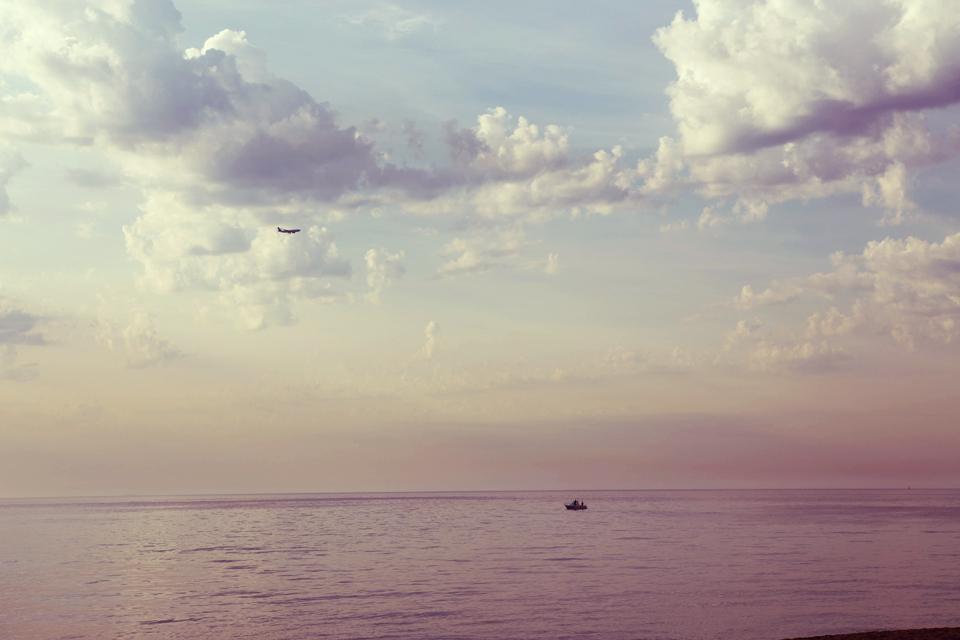 Paseando por Barceloneta a las 8 de la mañana, foto de Lena Karelova