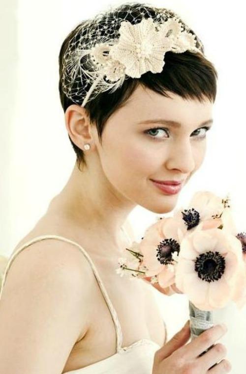 qué hacer si eres novia con pelo corto? Inspiración en Lena Karelova Blog