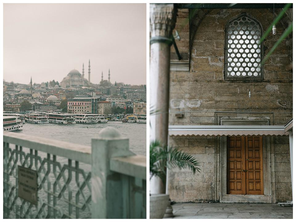vista al Bósforo Suleymaniye Cami, y la Yeni cami. Lena Karelova fotografía y viajes.