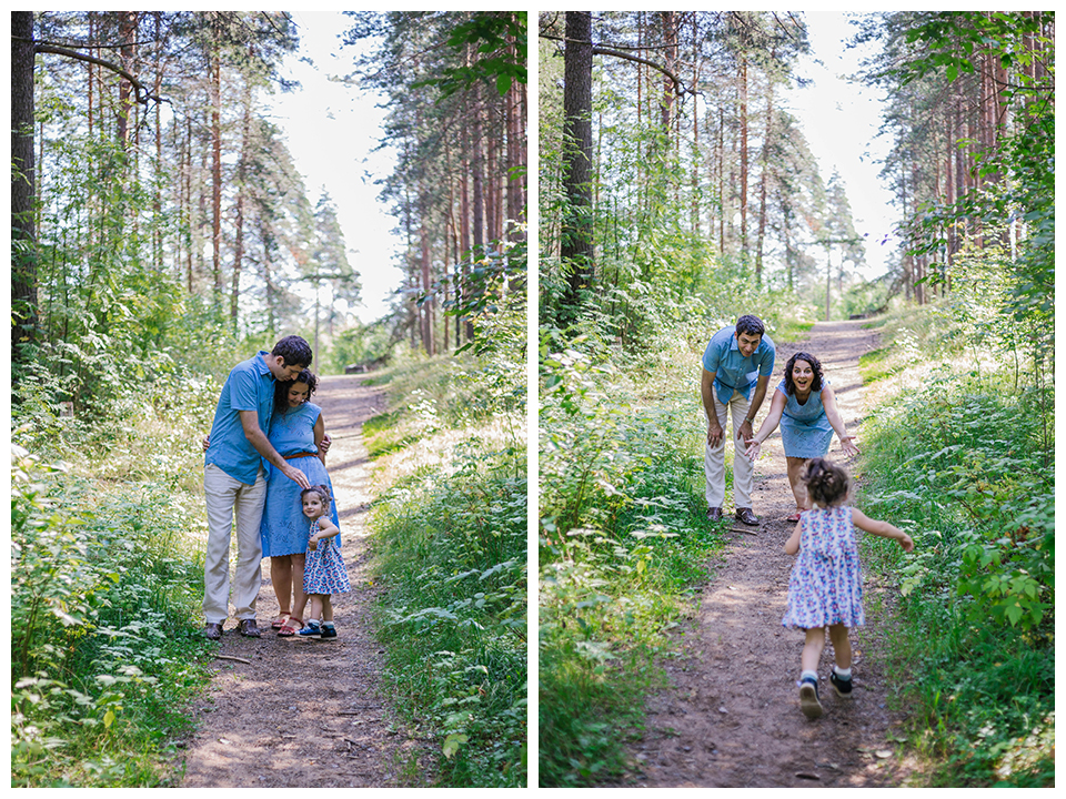 Outdoor family portraits in Saint Petersburg. Family portrait photography by Lena Karelova - wedding and family photographer .