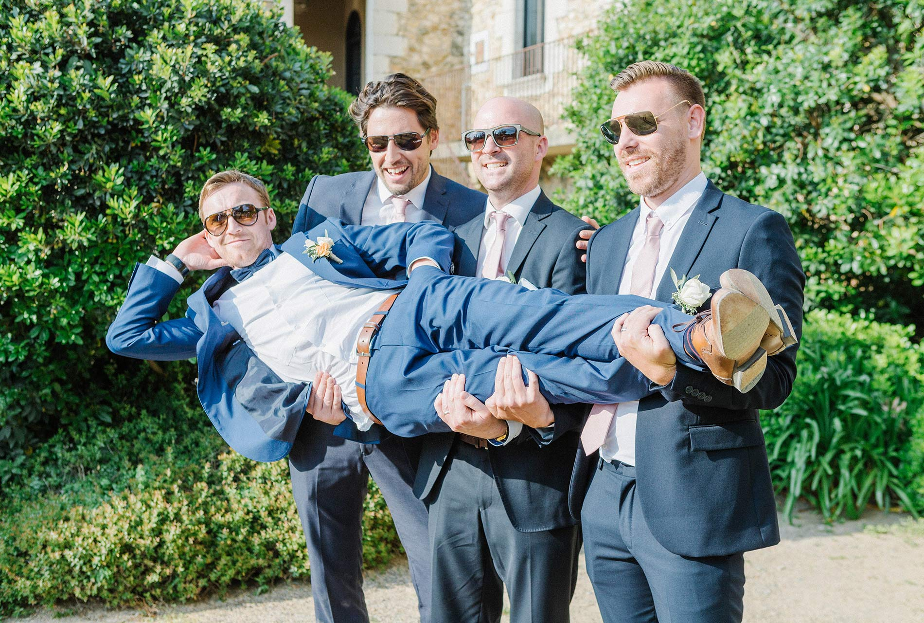 Castell-de-EMporda-wedding-photography---Groom-and-best-men