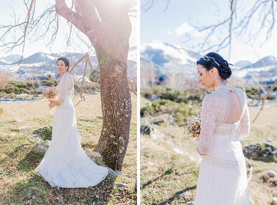 winter wedding in Spain. Lena Karelova - destination wedding photographer based in Barcelona.