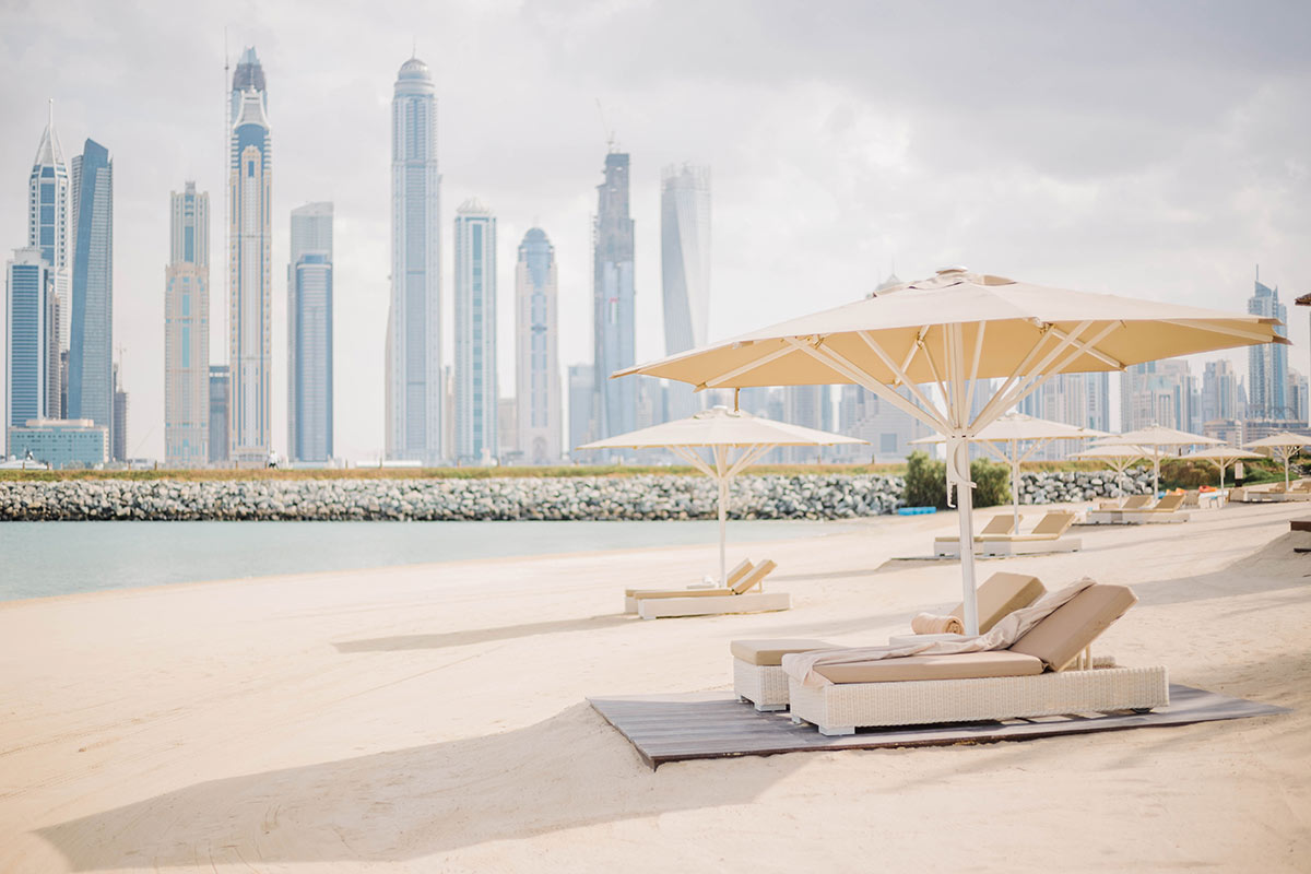 One and only hotel's private beach Dubai