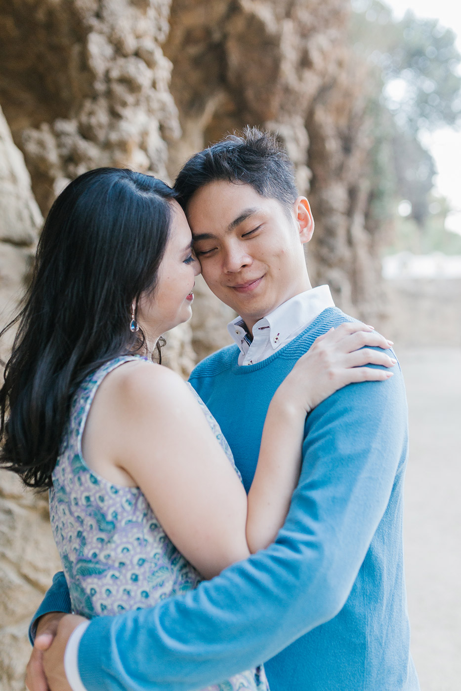 Elegant pre wedding photoshoot Barcelona |Romantic close up portrait | Fine Art Photographer | Engagement Photographer Barcelona