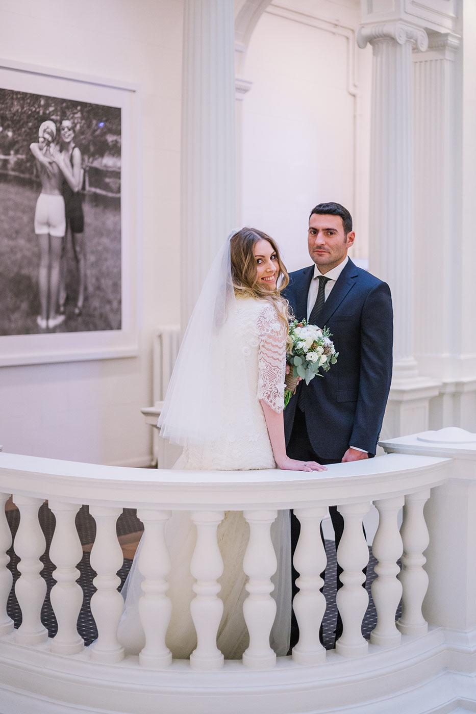 Couple shoot at Gran Via Hotel Barcelona | Fine Art Photographer | Lena Karelova Photography | Destination Wedding Photographer Barcelona |Film Wedding Photographer